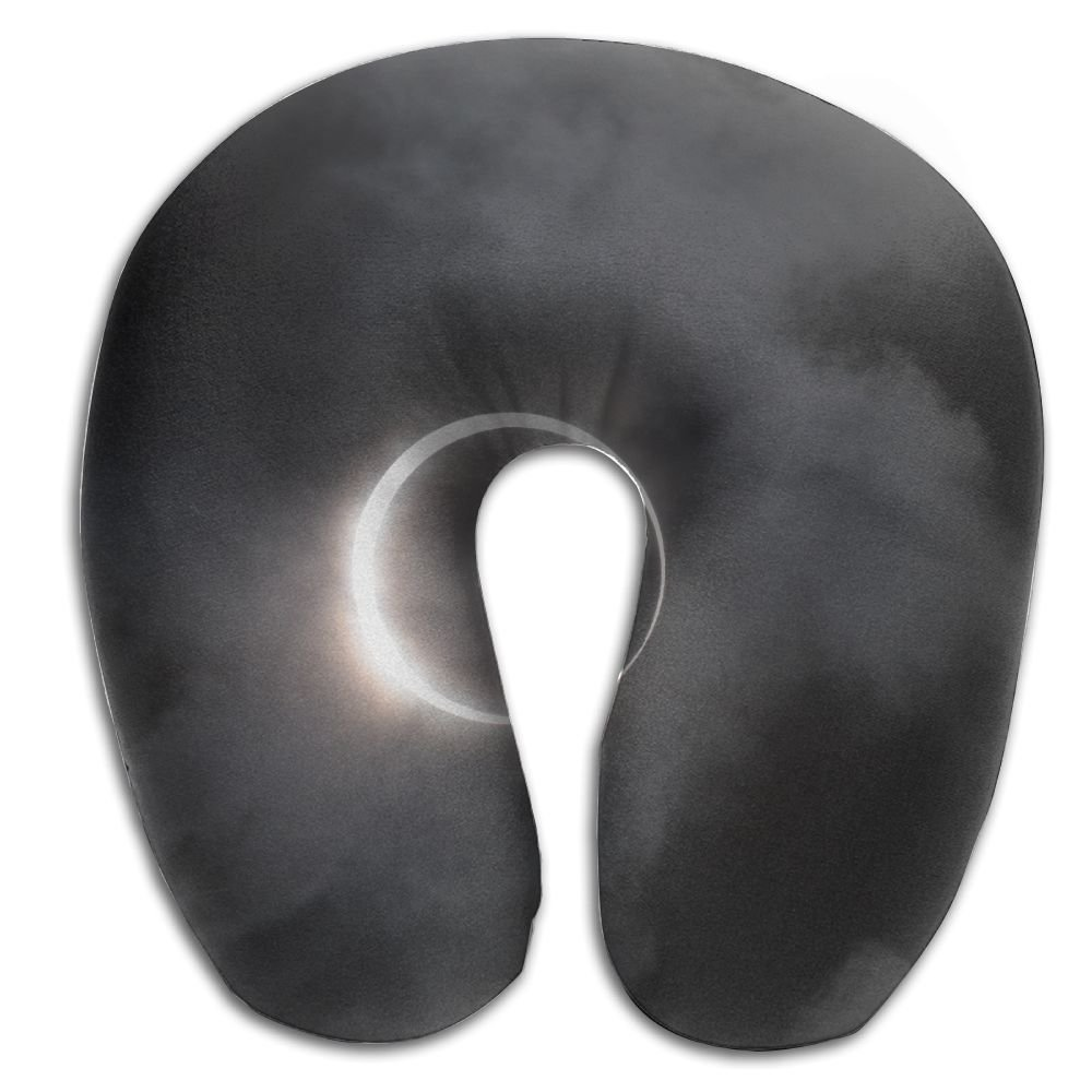 RONG FA Solar Eclipse 100% Pure Memory Foam Neck Pillow,Comfortable U Shaped Cushion Neck Pillow With Head And Neck Supports For Airplanes Travel,Car,Driving