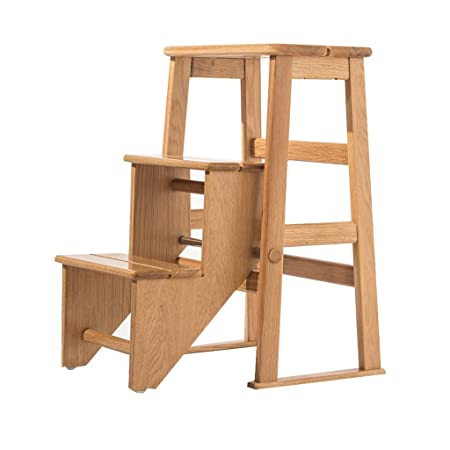 dual use furniture. LAXF Home Solid Wood Mobile Staircase Stool, Dual-use Chairs, Three-step Dual Use Furniture I