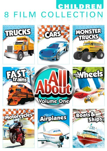 All About 8 Pack Volume 1: Car, Monster Trucks, Trucks, Fast Trains, Fun On Wheels, Motorcycles, Airplanes, Boats And Ships -