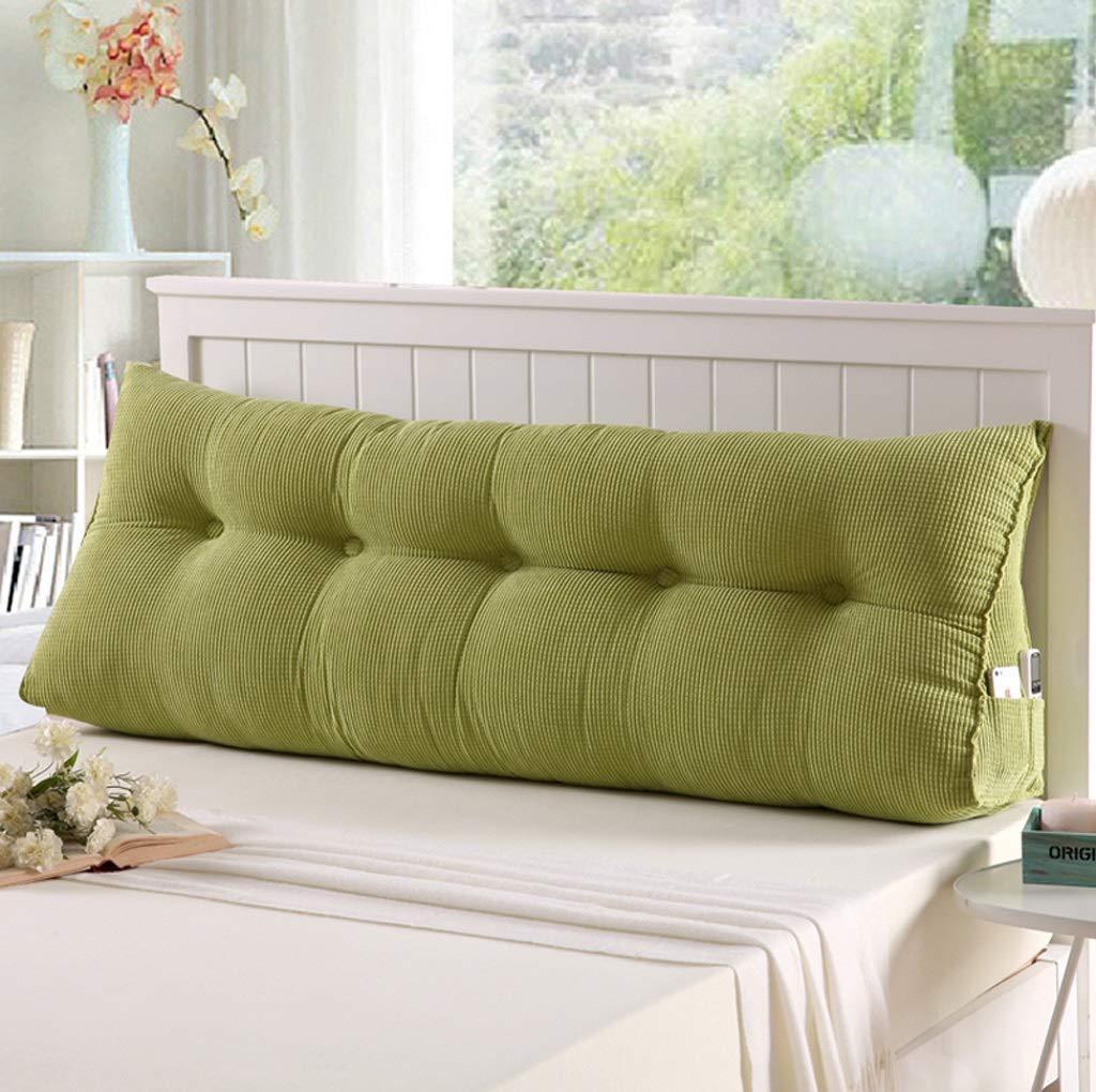 QJE Pillow Doble cabecera Almohada sofá cojín Grande Respaldo (Color : A, Tamaño : 60 * 50CM) MDY-BZJ