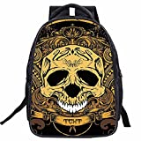 Hanshu Polyester Skeleton Head Backpack Bags, Kids' Daypack Bag, Lightweight Student Bookbags For Sale