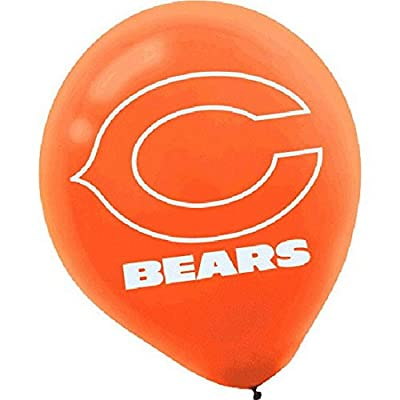 """Chicago Bears Collection"" Printed Latex Balloons, Party Decoration: Kitchen & Dining"
