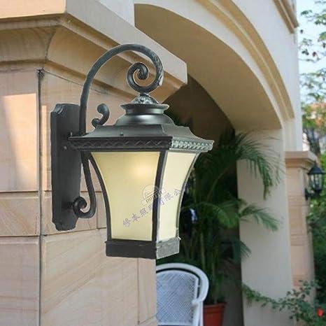 Wylolik Lámpara de pared exterior exterior Parrilla Luz ...
