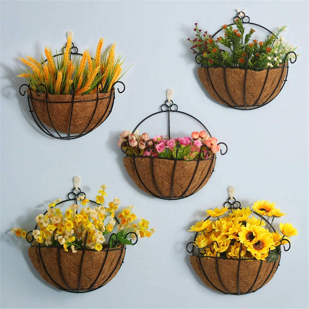 Wall Hanging Basket Decorative Coco Fiber Replacement Liner Patio Flower Pot Coconut Insert Mat for Keeping Moisture 60cm Wide NMFIN Coco Liner Roll