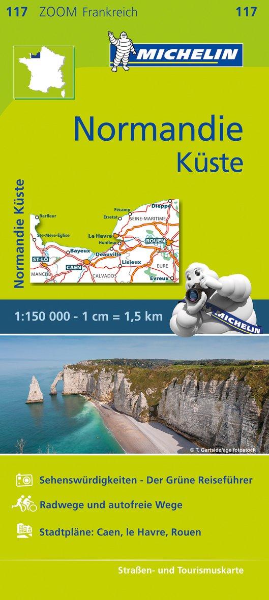 Michelin Normandie Küste: Straßen- und Tourismuskarte 1:200.000 (MICHELIN Zoomkarten, Band 117)
