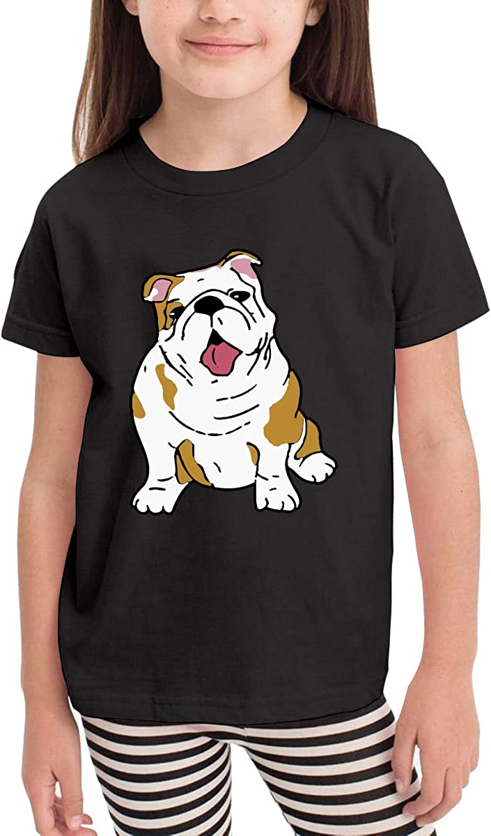 Kcloer24 Boys/&Girls English Bulldog Cute T-Shirt Summer Tee for 2-6 Years Old