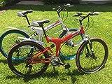 "26"" Folding Bicycle Shimano 21 speed Mountain Bicycle Disc Brakes RED"