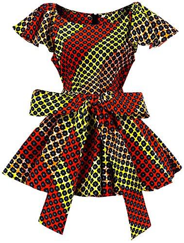 Shenbolen Womens Dashiki Tops Sleeveless Summer African Printed Slim Fit Shirts Blouse (Small,B) by Shenbolen