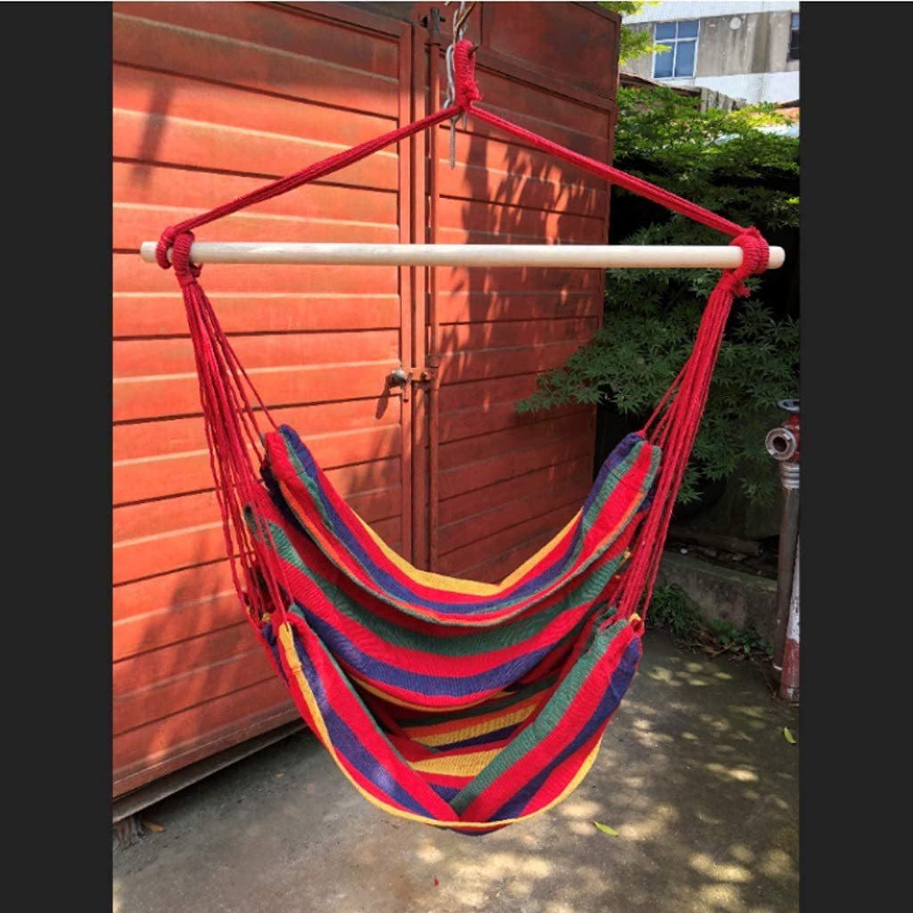 Porch Swinging Chair Hanging Chairs Outdoor Colorful Stripes Egg Chair Hammock Indoor Bedroom Decor For Teen Girls Size Without Pillows Amazon Co Uk Kitchen Home