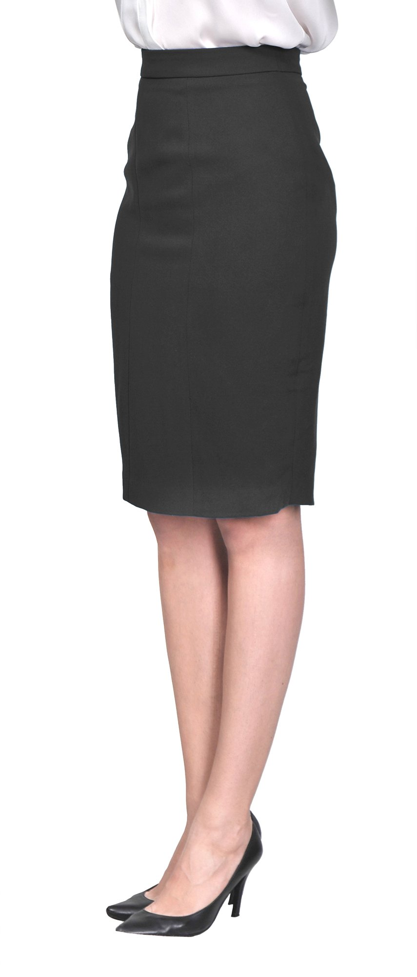 Marycrafts Women's Lined Pencil Skirt 4 Work Business Office 2 black by Marycrafts (Image #2)