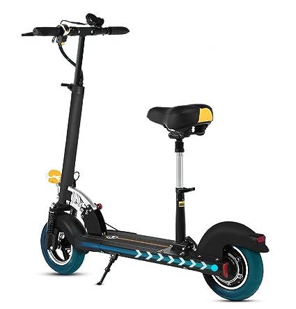XULONG Vespa eléctrica para los Adultos, Mini Portable Plegable con el Asiento Plegable 10 Pulgadas 150kg Carga 40km/h para Trabajar conmuta el Centro ...