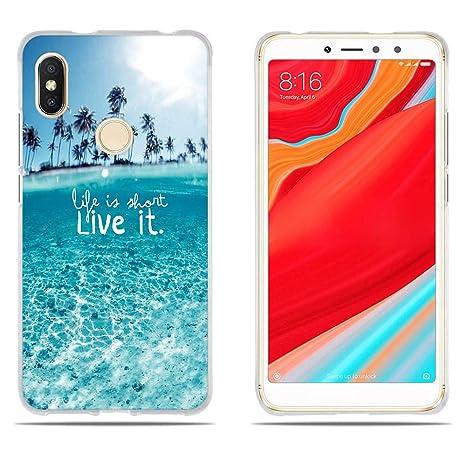 DIKAS Funda Xiaomi Redmi S2, Carcasa Xiaomi Redmi Y2, Transparente Suave TPU Gel [Ultra Fina] [Protección a Bordes y Cámara] Enjaca Xiaomi Redmi S2 / ...