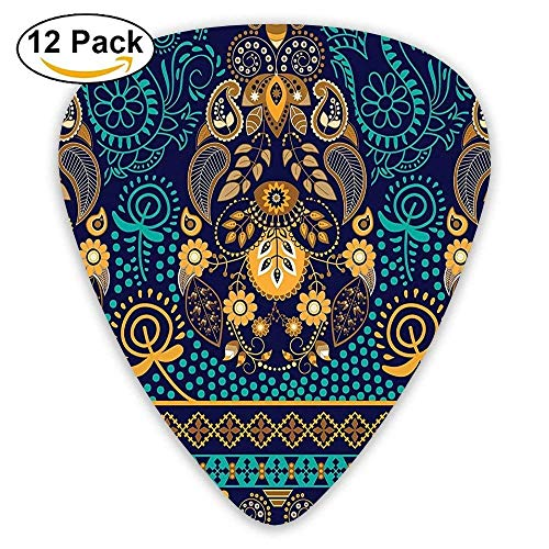 Mastexoru Guitar pick Ethnic Backgrounded Design With for sale  Delivered anywhere in USA