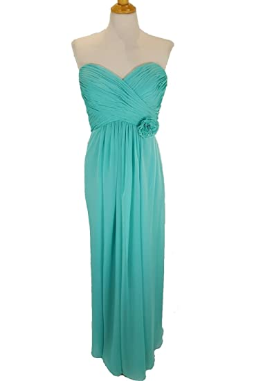 Tiffanys Serenade Kathleen Turquoise Chiffon Strapless Prom Dress UK 16 (US 12)
