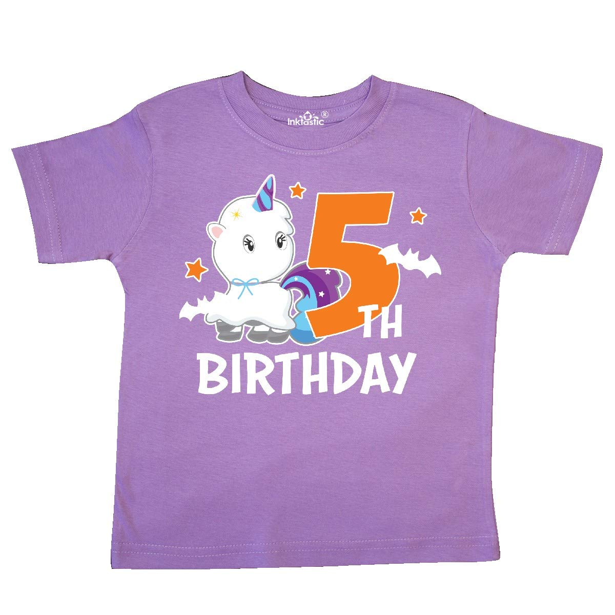 inktastic 5th Birthday with Unicorn Ghost Toddler T-Shirt
