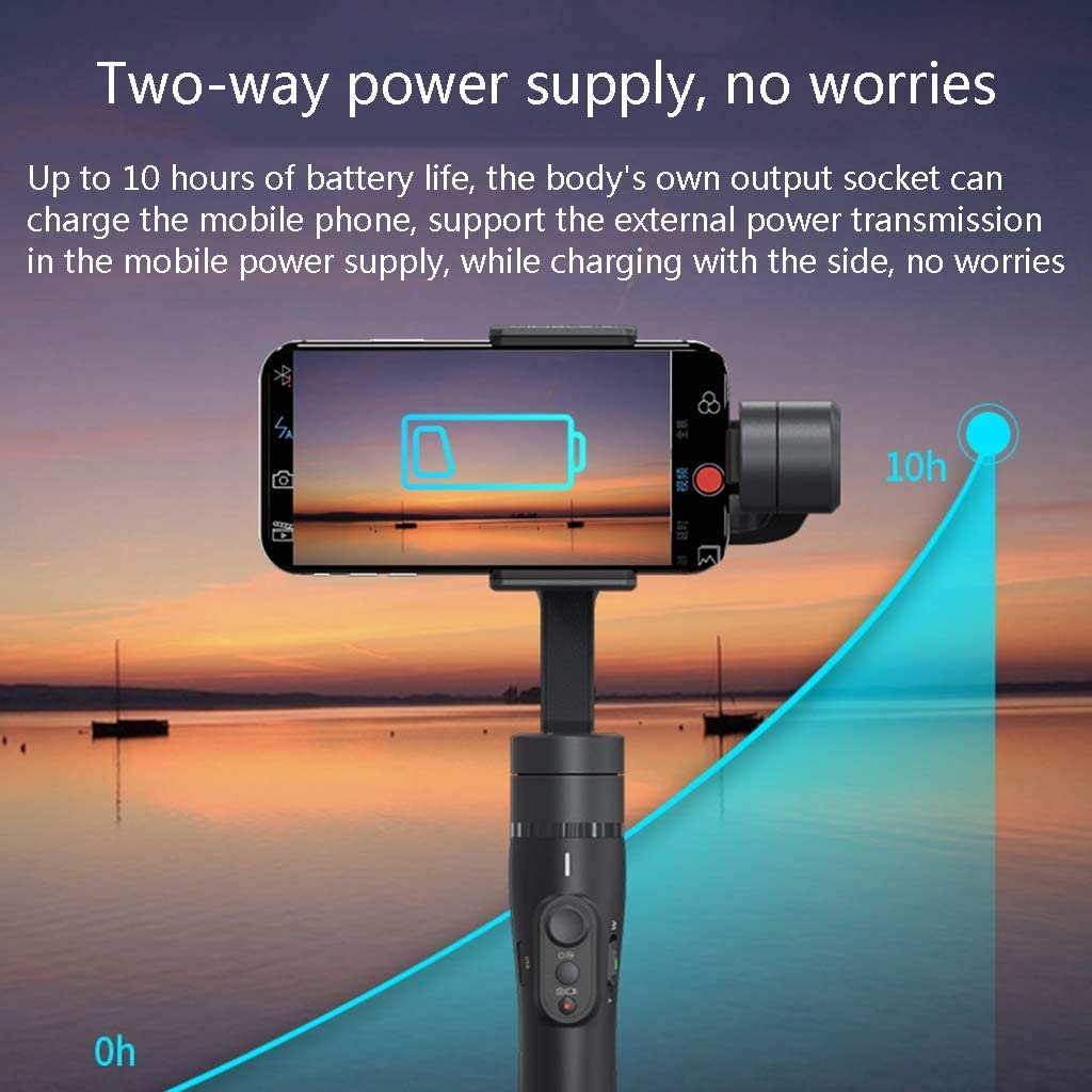 Built-in 18cm Extension Pole Stabilizer 3-Axis Handheld Ptz Anti-Shake Mobile Phone Adapter Phone Width 57-84mm Battery Life Up to 10 Hours