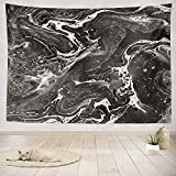 ONELZ Decor Collection, Beautiful Marble Decorative Invitations and Creative Black White Bedroom Living Room Dorm Wall Hanging Tapestry 60 L X 80 W Polyester Polyester Blend