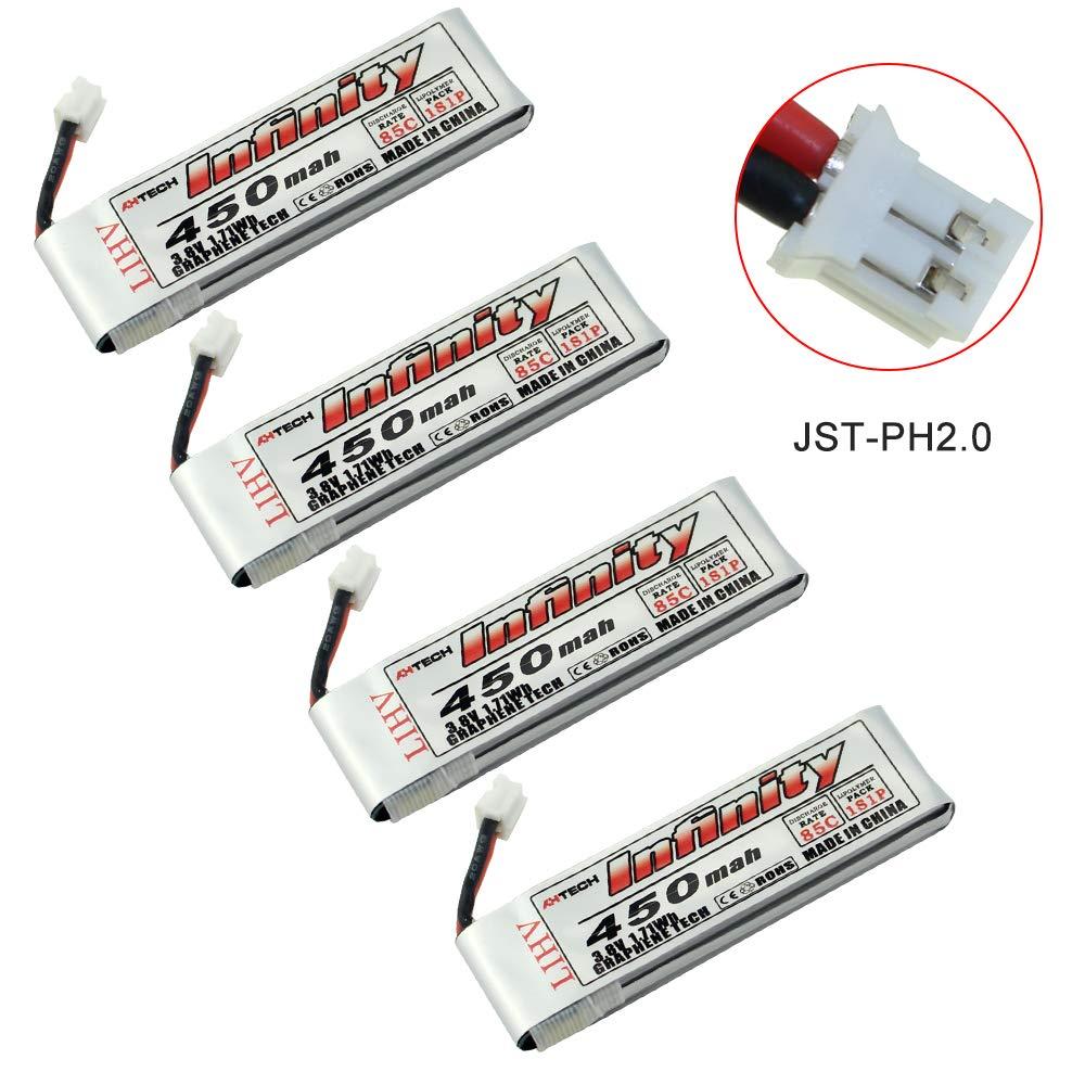 Baterias Lipo (4) 3.8v 450mah Rc Sologood