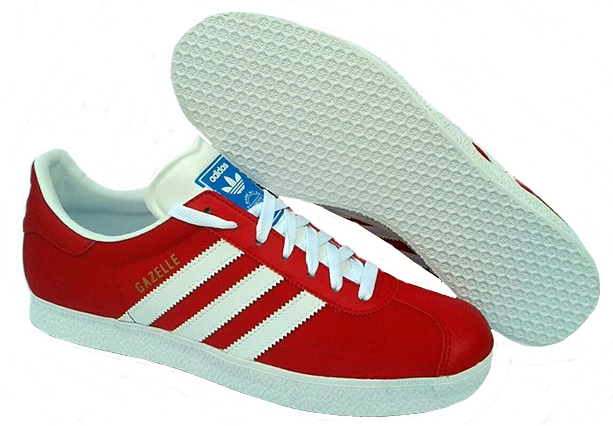 5c1453cab48a Adidas GAZELLE 2 V24415 sneakers men canvas Red White  Amazon.co.uk  Shoes    Bags