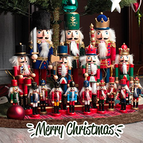 Jusdreen 10.3'' Christmas Nutcracker Ornaments Christmas Day Decoration Xmas Puppet Soldiers - Wooden by Jusdreen (Image #6)