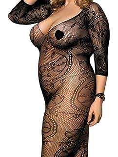 081d7420edfc4 Shmimy Bodystockings Damen elastische Netz Strumpfhose Dessous ...