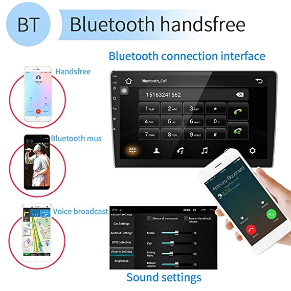 Car Stereo Double Din Android Navigation Stereo 10 Inch HD Touch