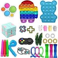 Fidget Pack Miniature Novelty Toys, 29Pcs Fidget Toys Cheap Fidget Toys Set Sensory Fidget Toys for Kids Adults, Stress…