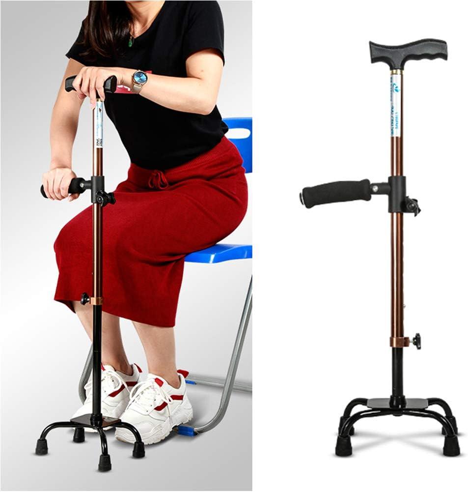 TXDWYF Muletas/Bastones para Mayores/Baston Anciano/Baston Extensible/Baston/Bastones para Caminar/Walking Stick/Los Ancianos Muletas Ortopedicas/Muletas Adulto Regulables Aluminio