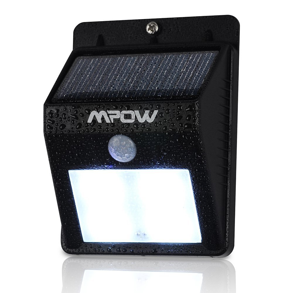 Mpow Solar Powered Wireless 6 Led Security Motion Sensor Light Wire Diagram For Outside Wall Garden Lamp Peel N Stick Detector Activated Patio Deck Yard