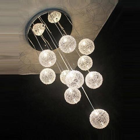 35,6 cm New 10 Lights Aluminium Draht Glas Kugeln Parlor ...