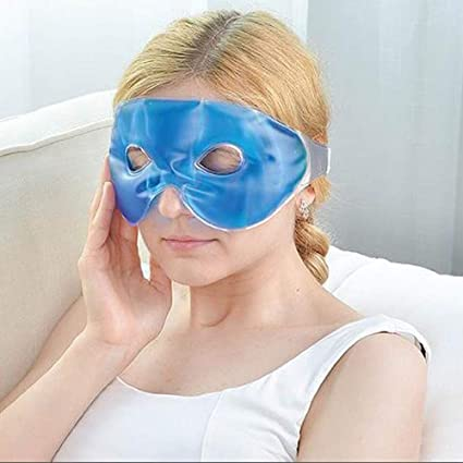 Amazon.com : 65x11CM Hot and Cold Gel Bead Eye Mask Eye Care Ice Compress  Fatigue Relief Cooling Mask Relaxation with Straps for Soothing Puffy Eyes,  Swollen Eyes, Dark Circles, Stress, hot and