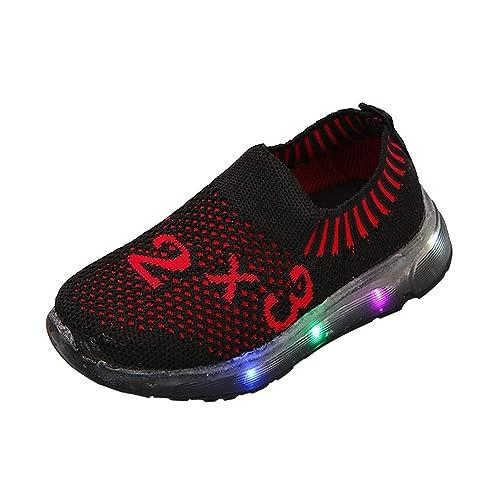 SOMESUN Baby Jungen M/ädchen LED Licht Sport Schuhe Kinder Fashion Leuchtend Weiche Sohle Elastisch Atmungsaktiv Mesh Klassisch Beil/äufig Freizeit Turnschuhe