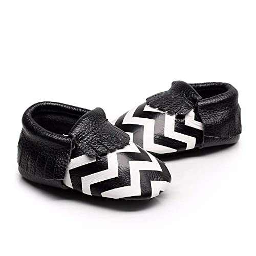 f50d75a377590 Amazon.com | HONGTEYA Leather Baby Moccasins, Baby Shoes Girl, Soft ...