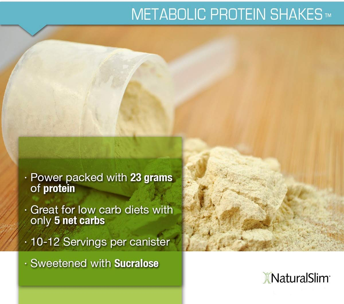 "NaturalSlim Meal Replacement Whey Protein Shakes, Natural Aid for a ""Slow Metabolism"" with Ingredients to Suppress Appetite and Start of Your Day ..."