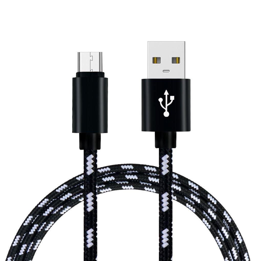 Luckiests 3m Grille Tress/é Coton Rapide USB Type C de Type C USB Chargeur C/âble de Charge