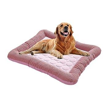 Volwco Alfombrilla De Refrigeración Para Mascotas Cama De Perro Y Gato, Colchón De Refrigeración Para Mascotas De Verano, Suave Colchón De ...