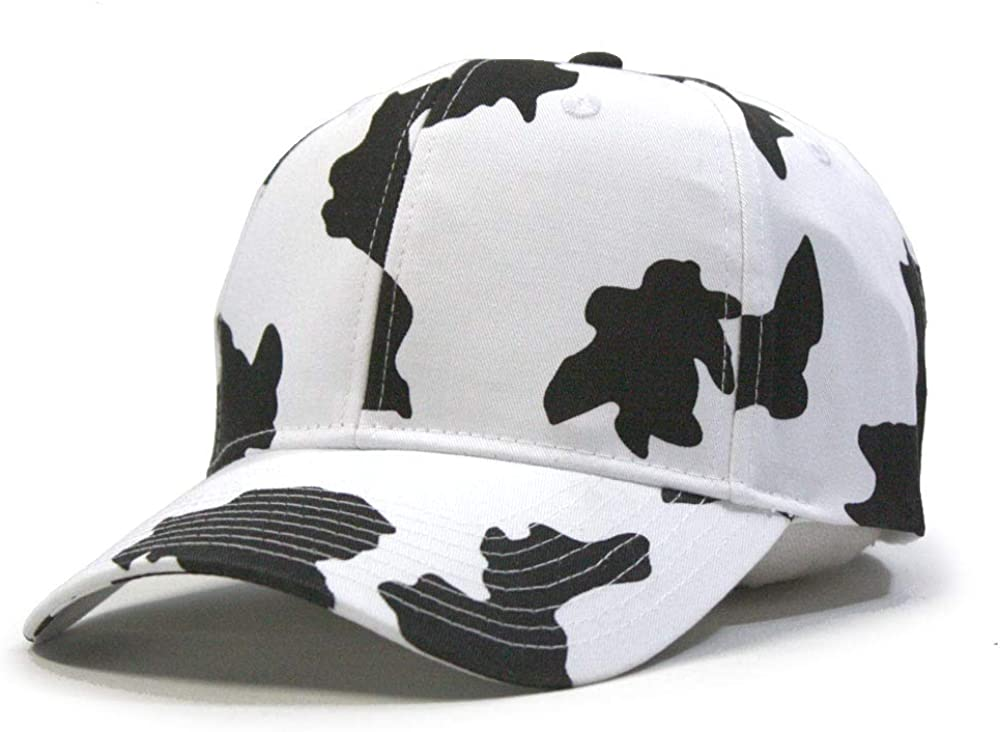 Vintage Year Milk Cow Adjustable Snapback Baseball Cap White