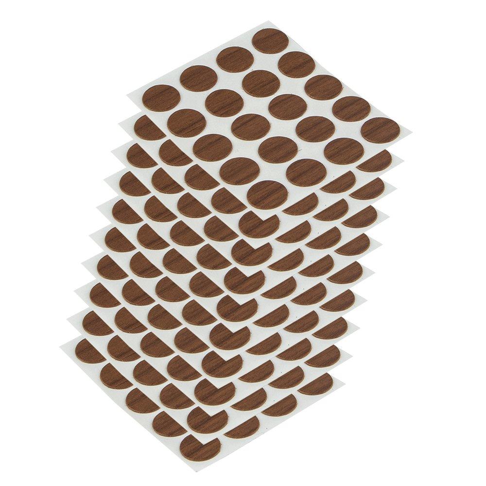 Emuca 4026416 Tapa embellecedora adhesiva, Ø13mm, Marrón, Lote de 200 piezas: Amazon.es: Bricolaje y herramientas