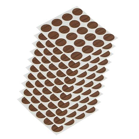 Emuca 4026416 Tapa embellecedora adhesiva, Ø13mm, Marrón, Lote de 200 piezas