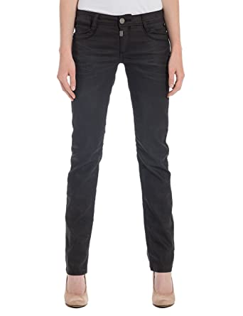 Womens New Kairinatz 9187 Coated Black Jeans Timezone Rcy3kDdhY
