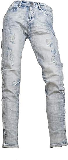 (メンズナーレ) MensNare メンズ サイドパイピング サイドライン 切替 パンツ デニム V011031-02