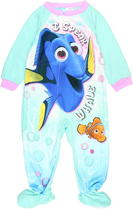 e2ddb82cbb08 Amazon.com  Finding Dory Nemo Toddler Girls Boys Footed Pajamas ...
