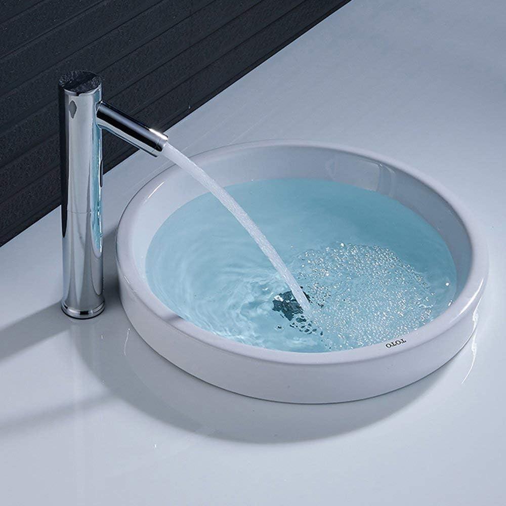 JRUIA Chrom Automatischer Bad Wasserhahn Infrarot Sensor Waschtischarmatur Waschbecken Armatur