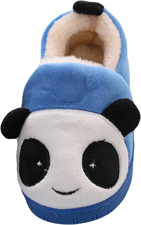 Liveinu Kids//Toddlers Panda Winter Fuzzy Warm House Slippers Booties