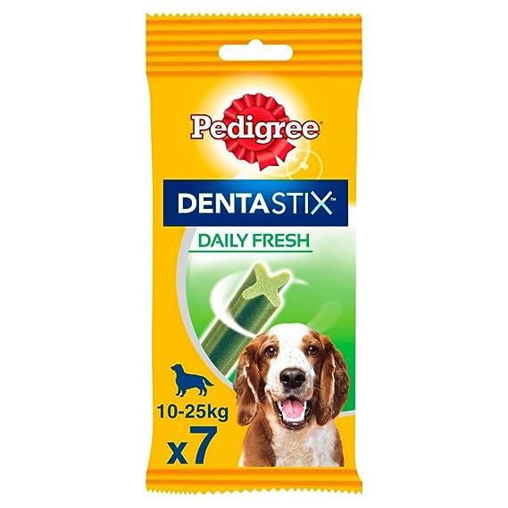 Pedigree Hundesnacks Hundeleckerli Dentastix Fresh für frischen Atem Medium Tägliche Zahnpflege für mittelgroße Hunde 10-25kg