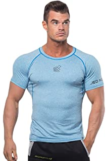 77dd95c5f Jed North Men's Bodybuilding Workout Short Sleeve Tee Slim Fit T Shirt for  Gym