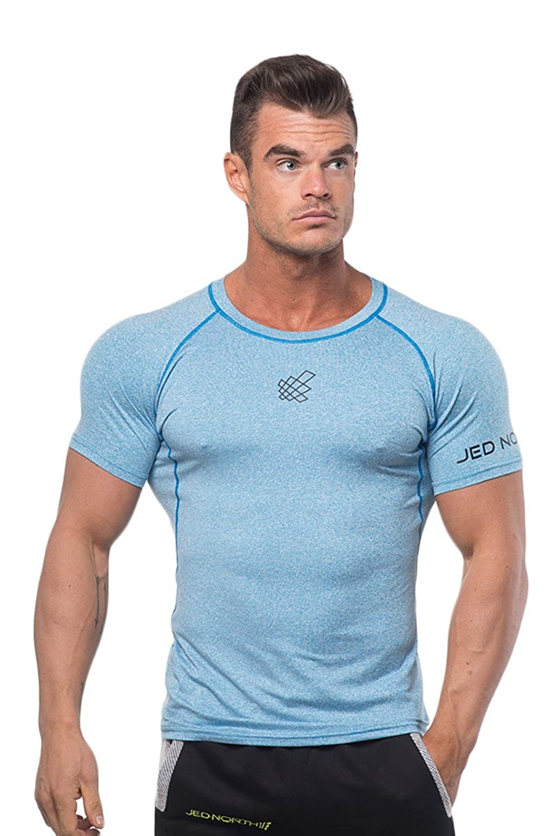 8a38339741039 Amazon.com  Jed North Men s Bodybuilding Workout Short Sleeve Tee Slim Fit  T Shirt for Gym  Clothing
