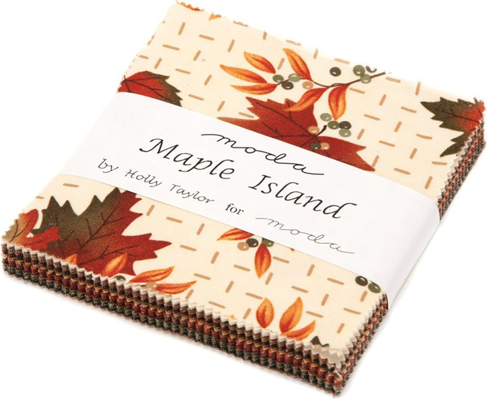 Maple Island Charm Pack By Holly Taylor; 42 - 5 Precut Fabric Quilt Squares by moda United Notions 6610PP