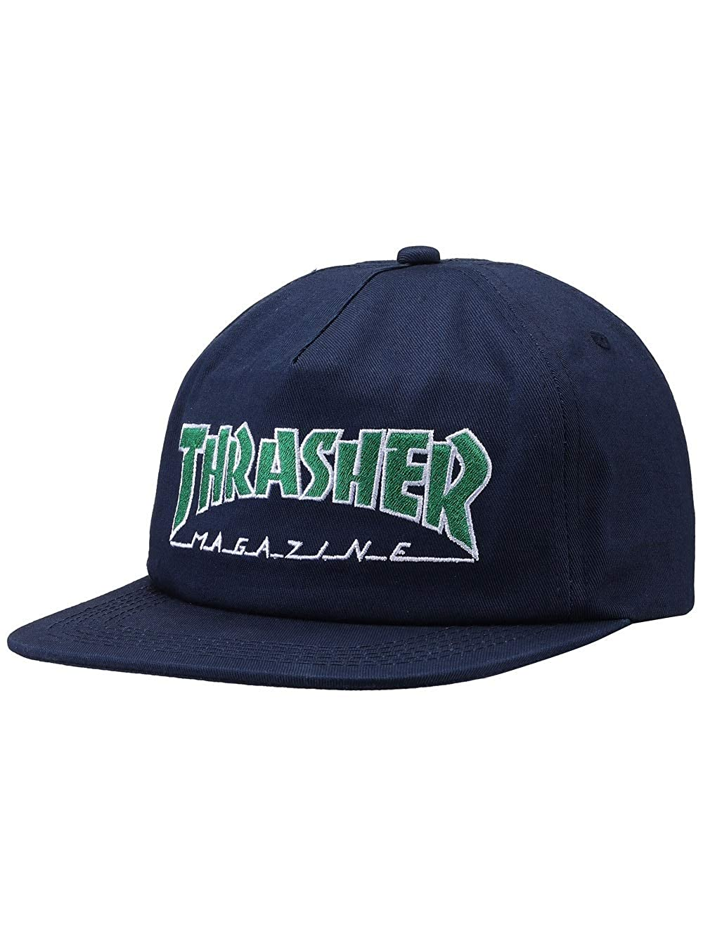 ea06410d9 Thrasher Magazine Outlined Logo Unstructured Snapback Hat - Navy ...