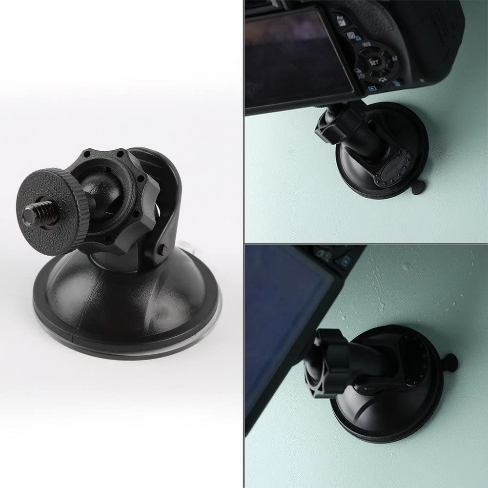 ZAXKJ Universal Car Suction Cup Holder Tripod Mini Car Mount Holder for Camera Action Sport Camera Accessories